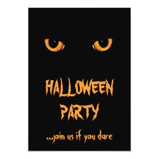 """Invitaciones del fiesta de Halloween del gato Invitación 5"""" X 7"""""""