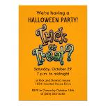 Invitaciones del fiesta de Halloween del truco o Comunicados Personales