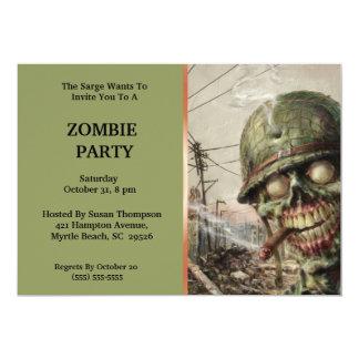 """Invitaciones del fiesta de Halloween del zombi Invitación 5"""" X 7"""""""