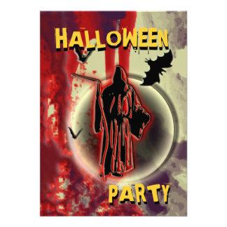 Invitaciones del fiesta de Halloween - plantilla d