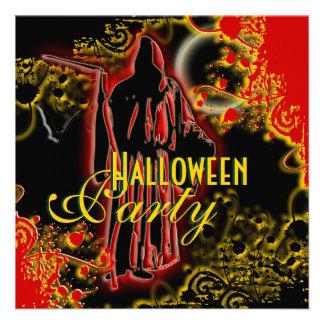 Invitaciones del fiesta de Halloween - plantilla d Comunicados Personales