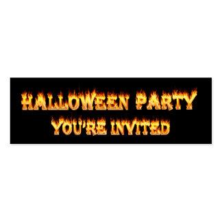 invitaciones del fiesta de Halloween Tarjetas De Visita Mini