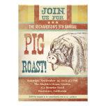 invitaciones del fiesta de la barbacoa de la carne invitación personalizada