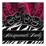 Invitaciones del fiesta de la bola de mascarada de invitacion personalizada