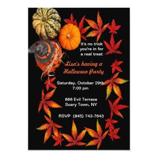 Invitaciones del fiesta de la calabaza de otoño invitación 12,7 x 17,8 cm