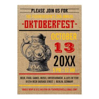 Invitaciones del fiesta de la celebración de Oktob