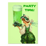 Invitaciones del fiesta de la cerveza del verde invitacion personalizada