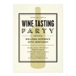 Invitaciones del fiesta de la degustación de vinos