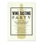 Invitaciones del fiesta de la degustación de vinos comunicados personales