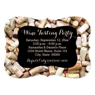 """Invitaciones del fiesta de la degustación de vinos invitación 5"""" x 7"""""""