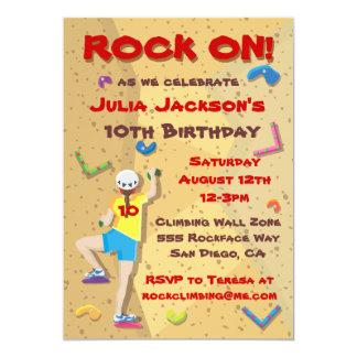 Invitaciones del fiesta de la escalada invitación 12,7 x 17,8 cm