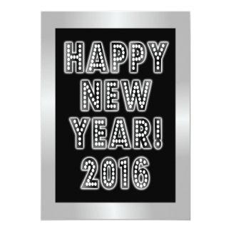 """Invitaciones del fiesta de la Feliz Año Nuevo 2016 Invitación 5"""" X 7"""""""