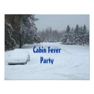 """Invitaciones del fiesta de la fiebre de la cabina invitación 4.25"""" x 5.5"""""""