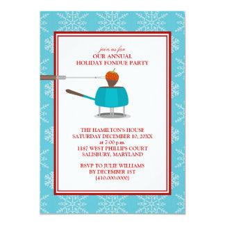 """Invitaciones del fiesta de la """"fondue"""" del día de comunicados personales"""