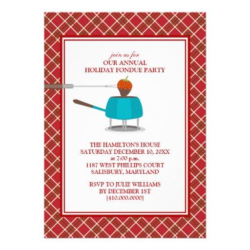 """Invitaciones del fiesta de la """"fondue"""" del día de  comunicado personal"""