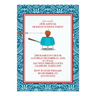 """Invitaciones del fiesta de la """"fondue"""" del día de invitación 12,7 x 17,8 cm"""