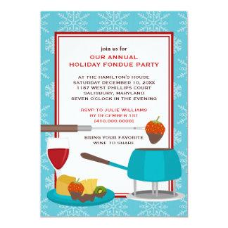 """Invitaciones del fiesta de la """"fondue"""" del día de anuncios"""