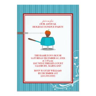 """Invitaciones del fiesta de la """"fondue"""" del día de invitación personalizada"""