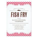 Invitaciones del fiesta de la fritada de pescado invitacion personalizada