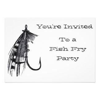 Invitaciones del fiesta de la fritada de pescado comunicados personales