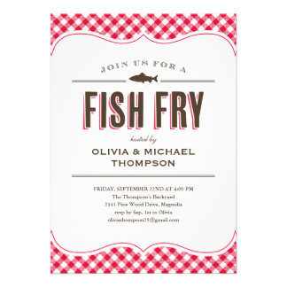 Invitaciones del fiesta de la fritada de pescado