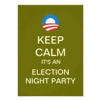 Invitaciones del fiesta de la noche de la elección invitación personalizada