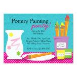 Invitaciones del fiesta de la pintura de la invitación personalizada