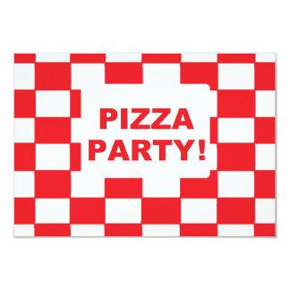 """""""Invitaciones del fiesta de la pizza"""" Invitación 8,9 X 12,7 Cm"""