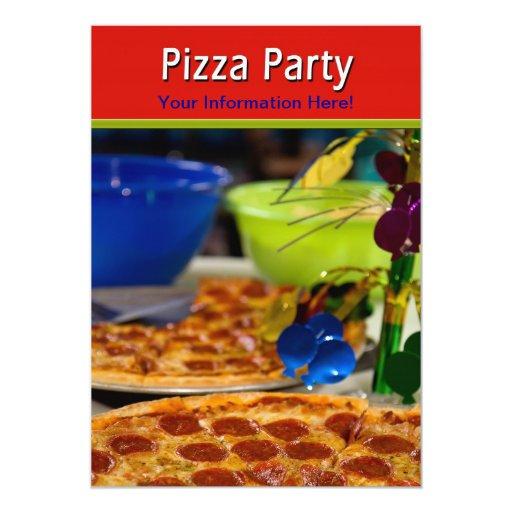 INVITACIONES DEL FIESTA DE LA PIZZA INVITACIÓN 12,7 X 17,8 CM