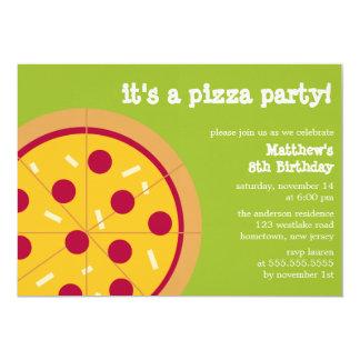 """Invitaciones del fiesta de la pizza invitación 5"""" x 7"""""""
