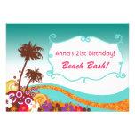 Invitaciones del fiesta de la playa