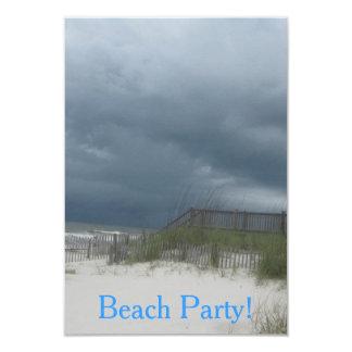 Invitaciones del fiesta de la playa invitación 8,9 x 12,7 cm