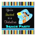 Invitaciones del fiesta de la playa invitacion personal