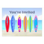 Invitaciones del fiesta de la playa de las tablas