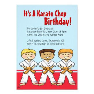 Invitaciones del fiesta de la tajada del karate de
