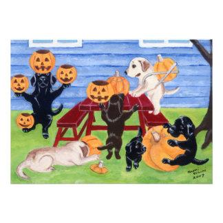 Invitaciones del fiesta de Labradors Halloween