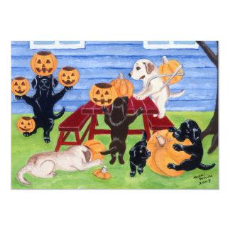 """Invitaciones del fiesta de Labradors Halloween Invitación 5"""" X 7"""""""