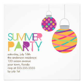 Invitaciones del fiesta de las linternas del veran invitaciones personales