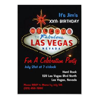 """Invitaciones del fiesta de Las Vegas de la fiesta Invitación 5"""" X 7"""""""