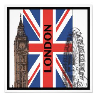 Invitaciones del fiesta de Londres Inglaterra Comunicado Personal