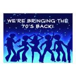 Invitaciones del fiesta de los años 70 del tema de