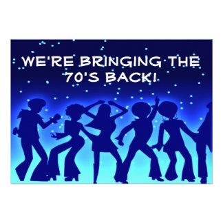 Invitaciones del fiesta de los años 70 del tema de invitacion personalizada