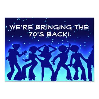 """Invitaciones del fiesta de los años 70 del tema invitación 5"""" x 7"""""""