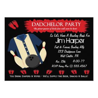 Invitaciones del fiesta de los bolos de Dadchelor Invitación