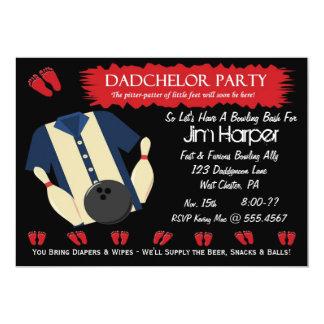 """Invitaciones del fiesta de los bolos de Dadchelor Invitación 5"""" X 7"""""""