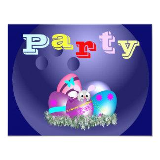 """Invitaciones del fiesta de los bolos de Pascua Invitación 4.25"""" X 5.5"""""""