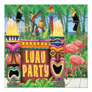 """Invitaciones del fiesta de Luau Invitación 5.25"""" X 5.25"""""""