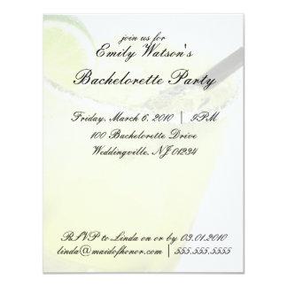 Invitaciones del fiesta de Margarita Bachelorette Invitación 10,8 X 13,9 Cm