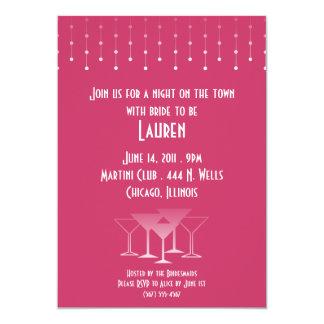 Invitaciones del fiesta de Martini Bachelorette Invitacion Personalizada