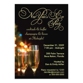 Invitaciones del fiesta de Noche Vieja - 5 x 7 Anuncios